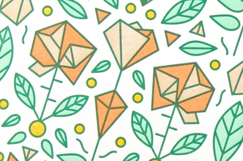 Illustration Rosen und Diamante - Detail