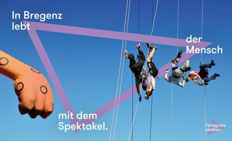 Bregenz Plakat – In Bregenz lebt der Mensch mit dem Spektakel.