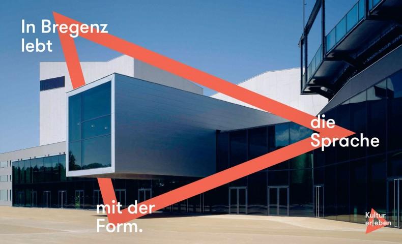 Bregenz Plakat – In Bregenz lebt die Sprache mit der Form.