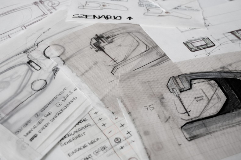 Nalintu – Handheld Sewing Machine – prototype drawings