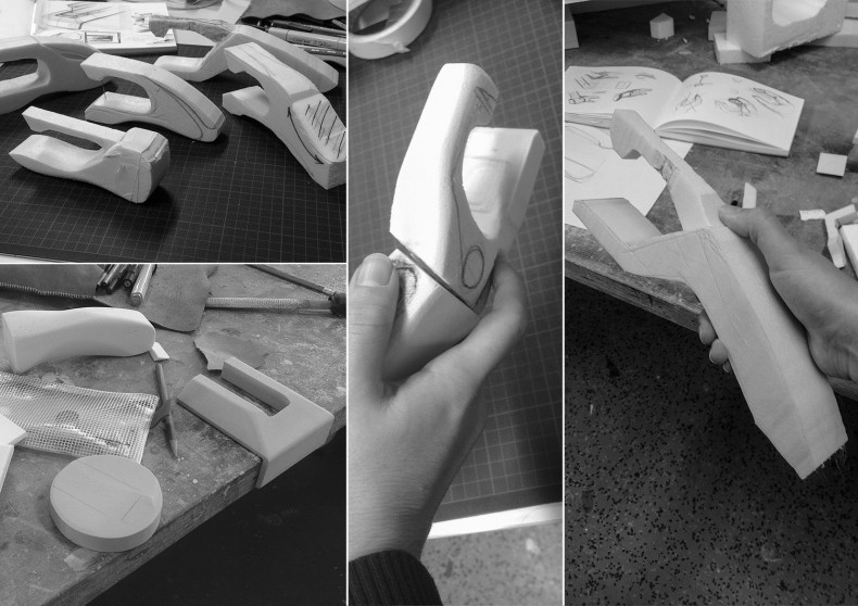 Nalintu – Handheld Sewing Machine – different prototypes