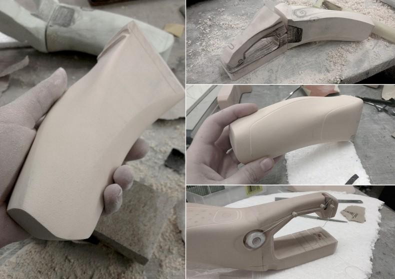 Nalintu – Handheld Sewing Machine – wooden prototype