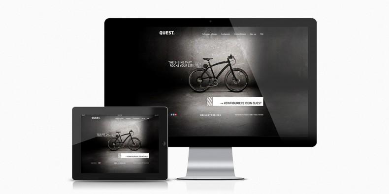 Elektrobiker Quest – Webdesign