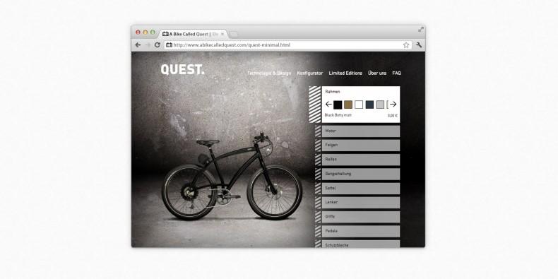 Elektrobiker Quest – Konfigurator