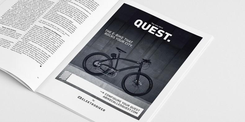 Elektrobiker Quest – Anzeige