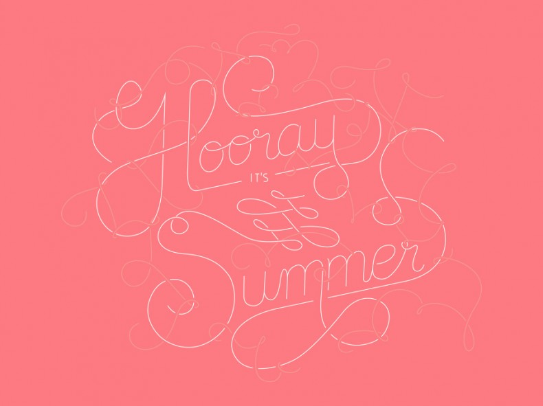 Lettering – Hooray it's Summer