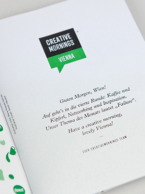 Cover – CreativeMornings Vienna Magazin