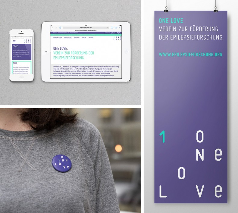 On Love – Verein zur Förderung der Epilepsieforschung – Corporate Design