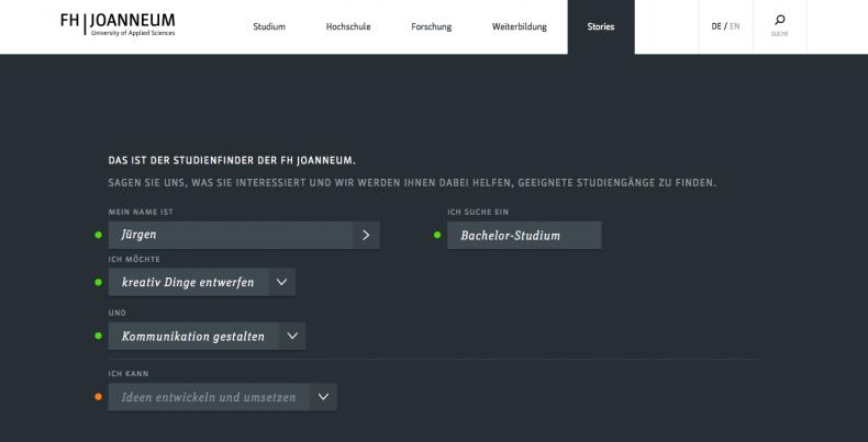 FH Joanneum – Coursefinder