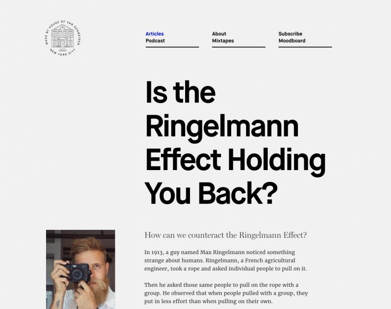 Ringelmann-Effekt Artikel