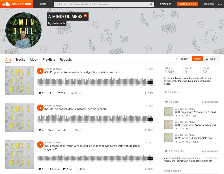a mindful mess on soundcloud
