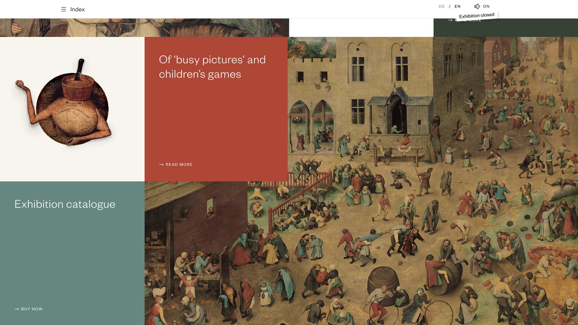 Pieter Bruegel d. Ä. –Webdesign