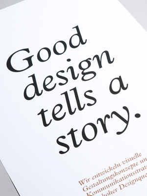 Good design tells a sto­ry