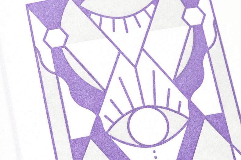Abstrakte Illustration mit Augen – Detail