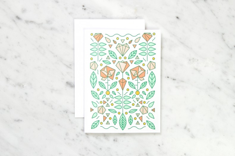 Illustration Rosen und Diamanten