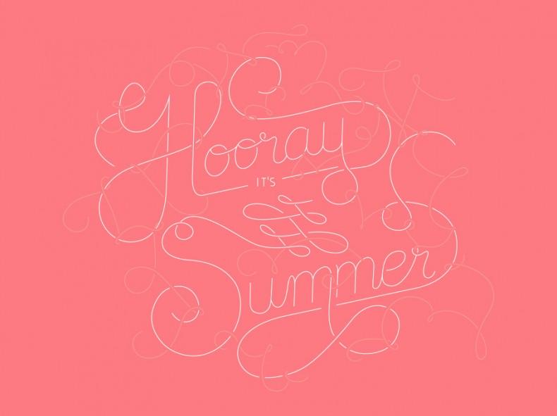 Lettering – Hooray it's Summer
