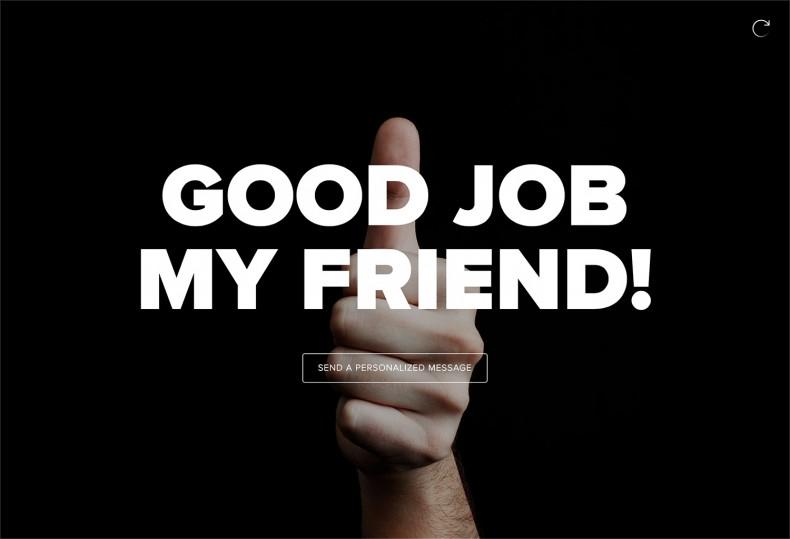 Send a Message – Good Job