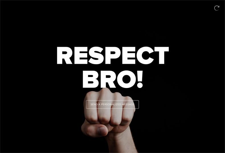 Send a Message – Respect