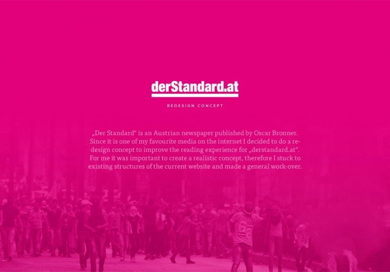 derstandard.at – Redesign Konzept