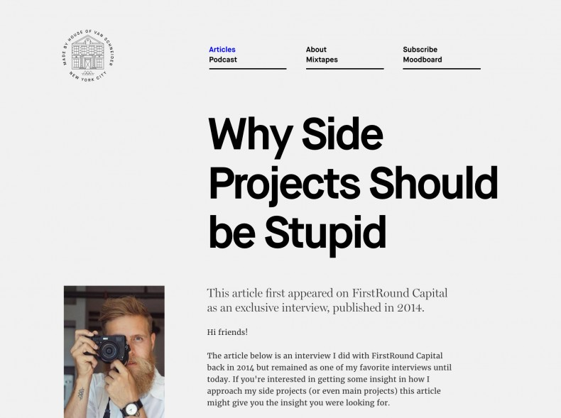 why sideprojects should be stupid