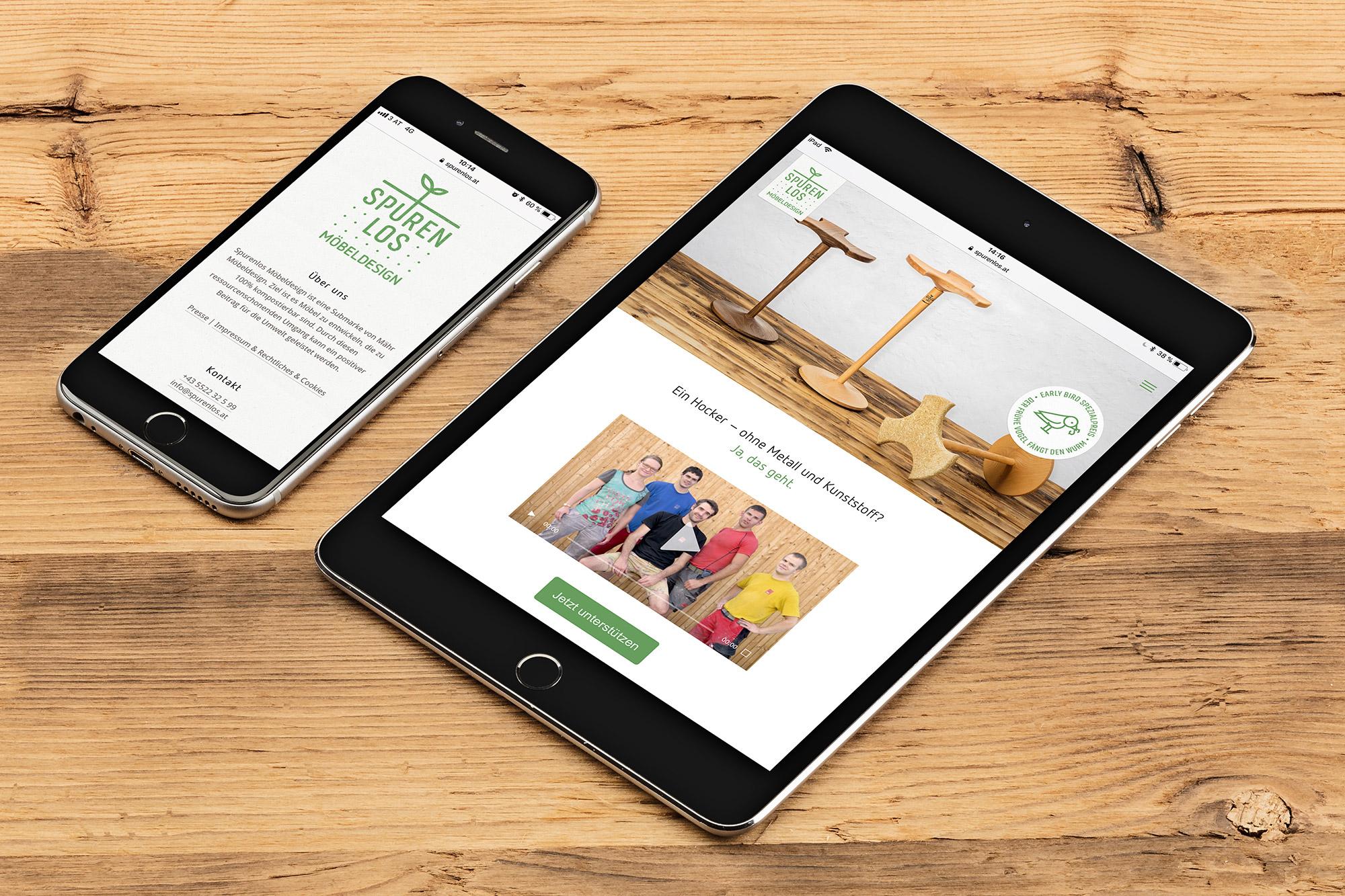 Spurenlos Website auf dem iPhone und iPad